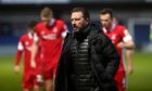 Derek McInnes at full-time following the 4-1 loss at Ross County.