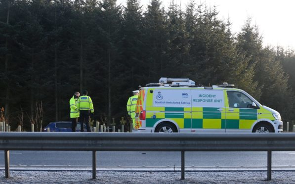 Emergency services at the scene this morning.