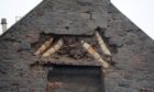Masonry has fallen from one of the buildings at Hollybank Place. Picture by Kath Flannery