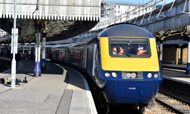 A train at Aberdeen Station. Picture by Kami Thomson