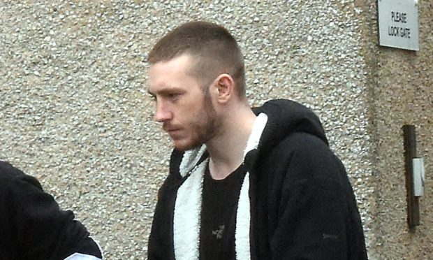 Lee Paterson leaving court on a previous occasion.