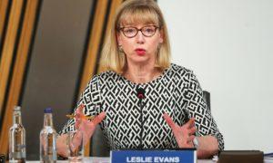 Permanent Secretary Leslie Evans.