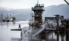 Vanguard-class submarine HMS Vigilant at HM Naval Base Clyde, also known as Faslane.