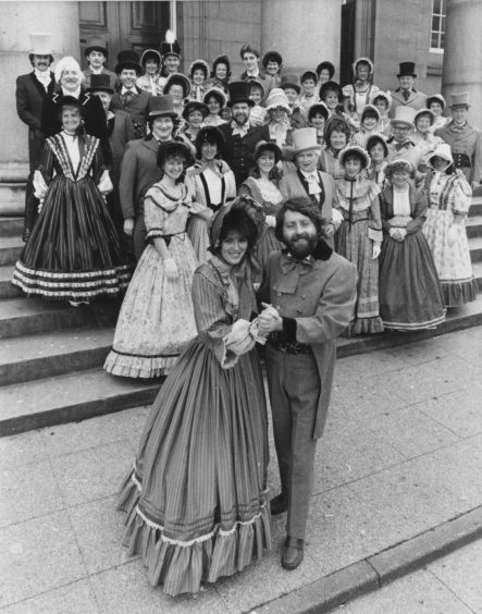 1987: Leading off the dancers in the Pro Arte production of Waltzes of Vienna, being staged at the Aberdeen Arts Centre this week, are Kerry Donald as Lina and Desmond Chrystal as Johan.