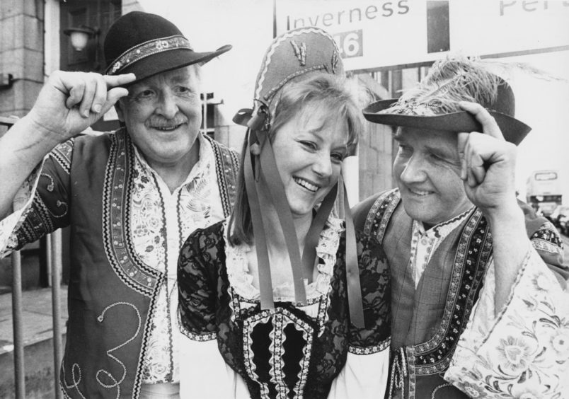 1989: Romance is in the air when Pro Arte stage the musical Magyar Melody in the Arts Centre theatre, King Street, for five nights from Tuesday. Here, three members of the cast, Karin Stuart, Eric Coutts (left) and Ron Barclay, show off the bright folk costumes which are a feature of the production.