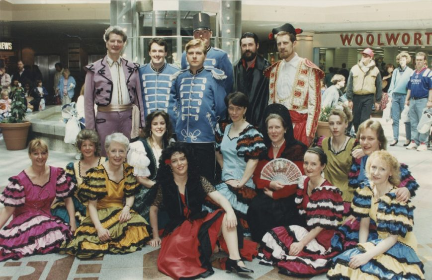 1992: Members of the cast of the pro Arte production of Carmen – the Musical gave visitors to the Bon Accord Centre a taste of what they will be missing if they do not find time to attend the show's North-East premier at Aberdeen Arts Centre this week.