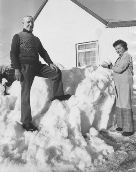 1978: Snow piled up to the windows evidence of the storm.