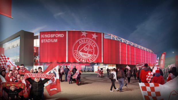 An artist impression of the Dons new stadium at Kingsford