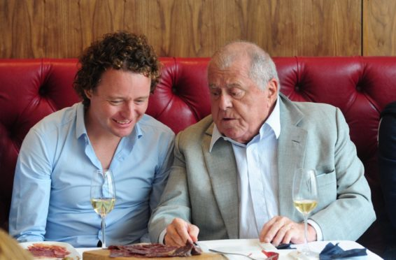 Legendary French chef, Albert Roux pictured with Tom Kitchin