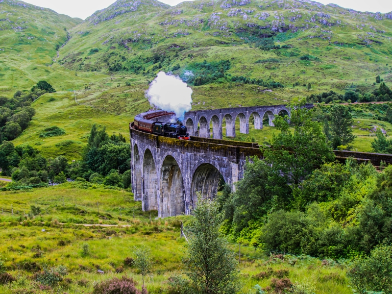 The iconic Glenfinnan Viaduct.