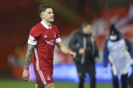 Aberdeen's new signing Callum Hendry following the defeat by Livingston.