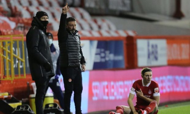 Aberdeen midfielder Ryan Hedges went off injured against Livingston on February 2.