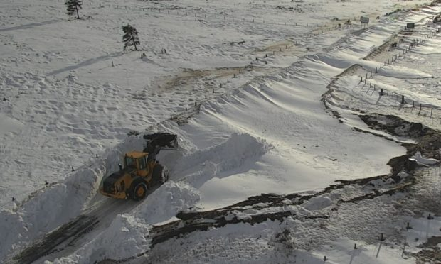 Road crews clearing the A93 at Glenshee.