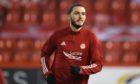 Aberdeen striker Fraser Hornby made his debut against Livingston.
