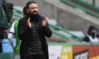 Aberdeen manager Derek McInnes during the 2-0 loss at Hibs.