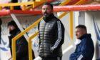Aberdeen manager Derek McInnes during the 0-0 Scottish Premiership draw with St Mirren.
