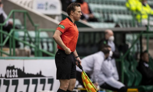 Official Graeme Stewart at Easter Road on Saturday