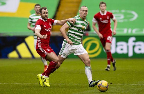 Celtic captain Scott Brown in action against Aberdeen.