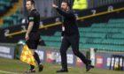 Aberdeen manager Derek McInnes during the 1-0 defeat against Celtic on February 27.
