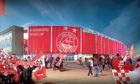 New impression (23/05/2017) for the Aberdeen football Stadium at Kingsford    Dons stadium Kingsford Stadium