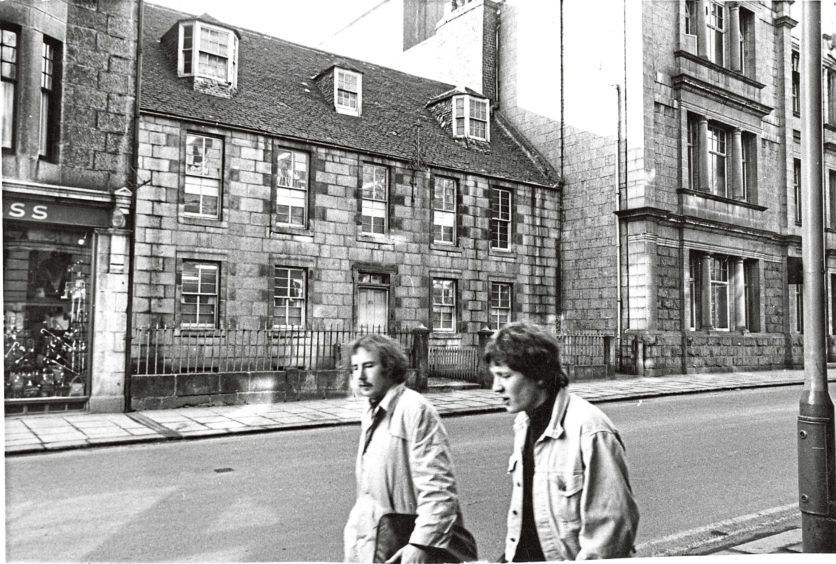 1969: No 61, Schoolhill, built about the year 1770. It is the last of the Schoolhill houses erected during the 18th century expansion of the city. No 61 Schoolhill, which it is intended to turn into a children's museum.