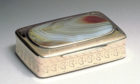 Presentation Gold Snuff Box with Agate Cover made by James Erskine