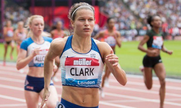 Zoey Clark running at the 2018 Anniversary Games.