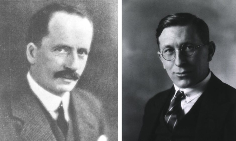 Macleod, left, and Frederick Banting, right, were responsible for the pioneering work.