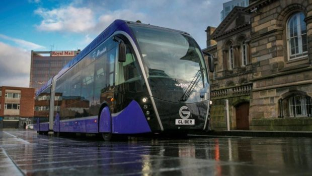 North-east transport bosses heard about the Glider bus service which is based in Belfast.