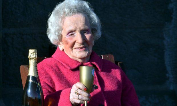 Catherine Smith celebrating her 105th birthday