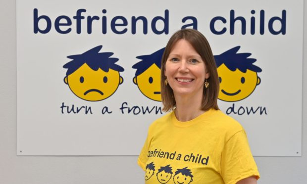 Sarah Misra, CEO of Befriend a Child at the charity's Aberdeen office.