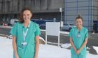 Claire McAvoy and Rachael Ironside work in critical care at ARI.