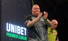 John Henderson, left, drew with Michael van Gerwen in the Premier League.