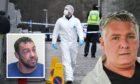 Stuart Quinn, pictured left, murdered Alan Geddes, right.