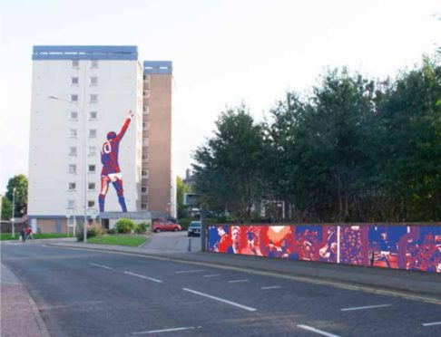 Murals would be painted on Clifton Court, and a collage would be created along Great Northern Road.