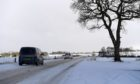 Snowy weather hits the North East. A937 Aberdeenshire. CR0026584 08/02/21 Picture by KATH FLANNERY