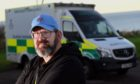 North-east councillor Mark Findlater outside Banff ambulance station.