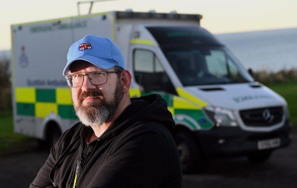 North-east councillor Mark Findlater outside Banff ambulance station.