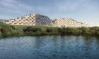 Artist impression showing the plan for flats next to Rubislaw Quarry.   Handout from Think PR