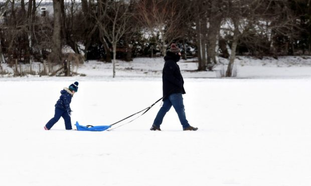 Kemnay residents took the chance to go sledging in the snow