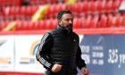 Aberdeen manager Derek McInnes in the 0-0 draw with St Mirren.