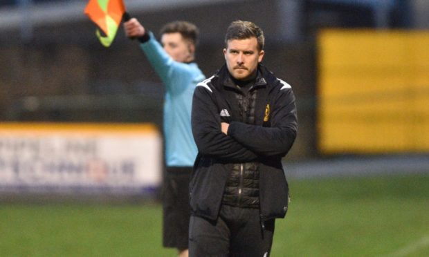 Huntly manager Allan Hale