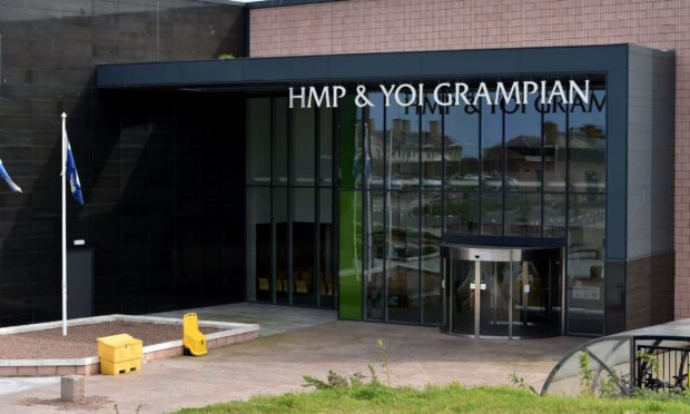 A wing has been locked down at HMP Grampian.