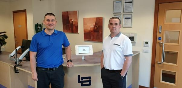 From left, Ray Milne, Legasea operations director, and Lewis Sim, Legasea managing director