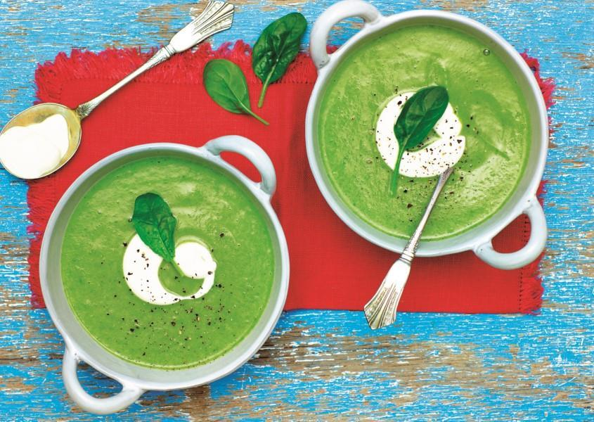 Creamy Spinach and Broccoli Soup