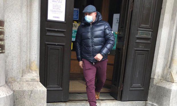 Steven Ballantyne leaving court.