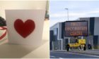 The Valentine's card received by NHS Grampian staff. P&J Live picture by Scott Baxter