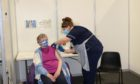 Violet Adams, who became the first person to be vaccinated at the P&J Live earlier this month. Picture from NHS Grampian
