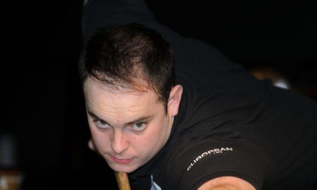 Seven-time North of Scotland snooker champion Marc Davis.