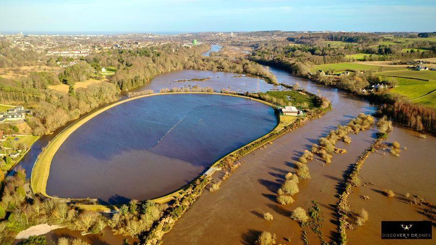 Flooding at Peterculter Golf Club.